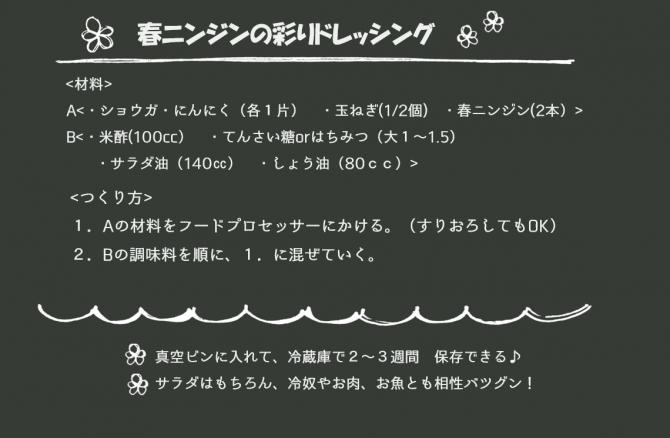 レシピ「人参ドレッシング」