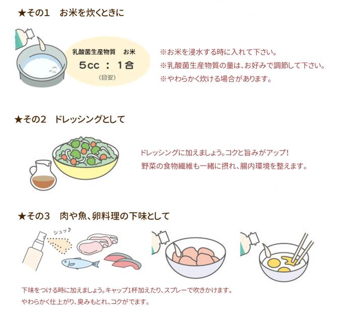 乳酸菌生産物質1~3